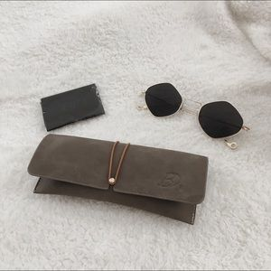 Other - Faux Leather Glasses Case